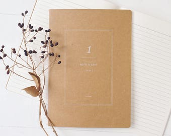 A5 Kraft Notebook[Ruled] / Stitch Notebook / N-08 / 1402205