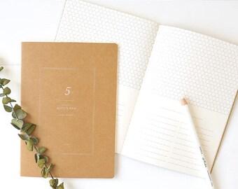 A5 Kraft Notebook[Half Scrap] / Stitch Notebook / N-12 / 1402227