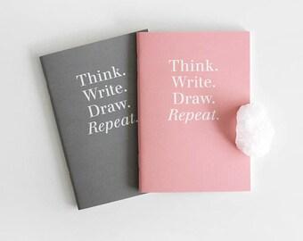 Pocket size Notebook set / 2 colors[Pink,Gray] / A set of 2pcs / N-05 / 1687723