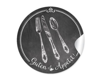 """Universal stickers, stickers """"Good appetite"""" as kitchens or table decoration"""