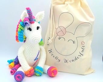 Crochet Kit - Rainbow the Unicorn Luxury Crochet Kit