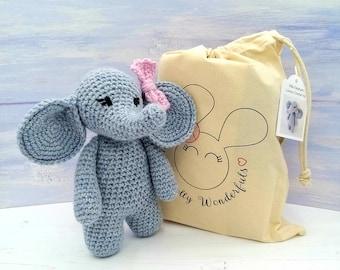 Ella the Elephant Crochet Kit - Luxury Wool & Alpaca Crochet Kit - Amigurumi Complete Beginner Elephant Craft Kit