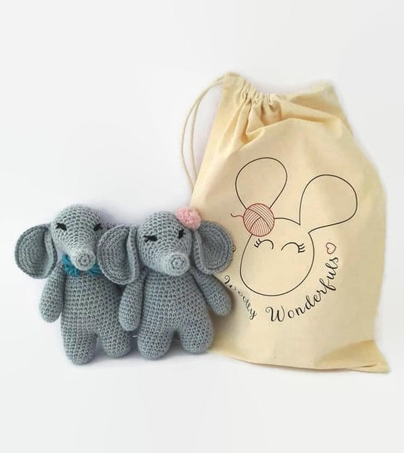 Amazon.com: Elephant Amigurumi Crochet Kit,crochet animal,crochet ... | 639x570