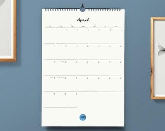 d9fb04fd66f Large Monthly Calendar | Calendar 2019/2020 | Wall Calendar | DIN A3 | Gift  when moving