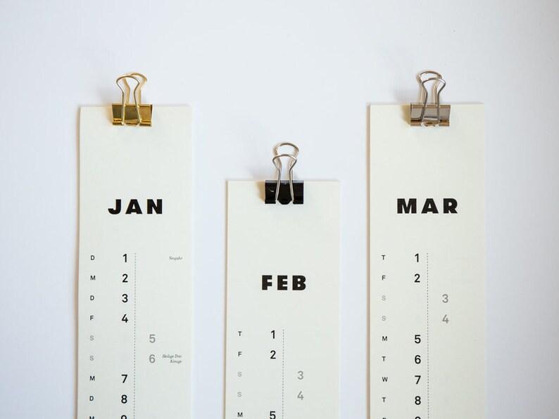 Slim Calendar 2019  Calendar 2019  Narrow A3  Monthly image 0