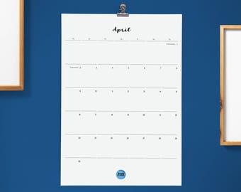 Großer Monatskalender | Wandkalender 2018/2019 | Geschenk zum Einzug |Semesterbeginn | Familienorganisation