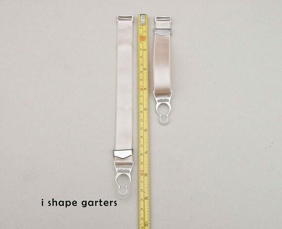 various colors ebb61 8ecb6 Abnehmbare Strumpfbänder Y-Form und ich Form mit Strümpfen Clips, Set von  6, 4 oder 2 Strumpfbänder, Satin elastische verstellbare Strumpfhalter Haut  ...