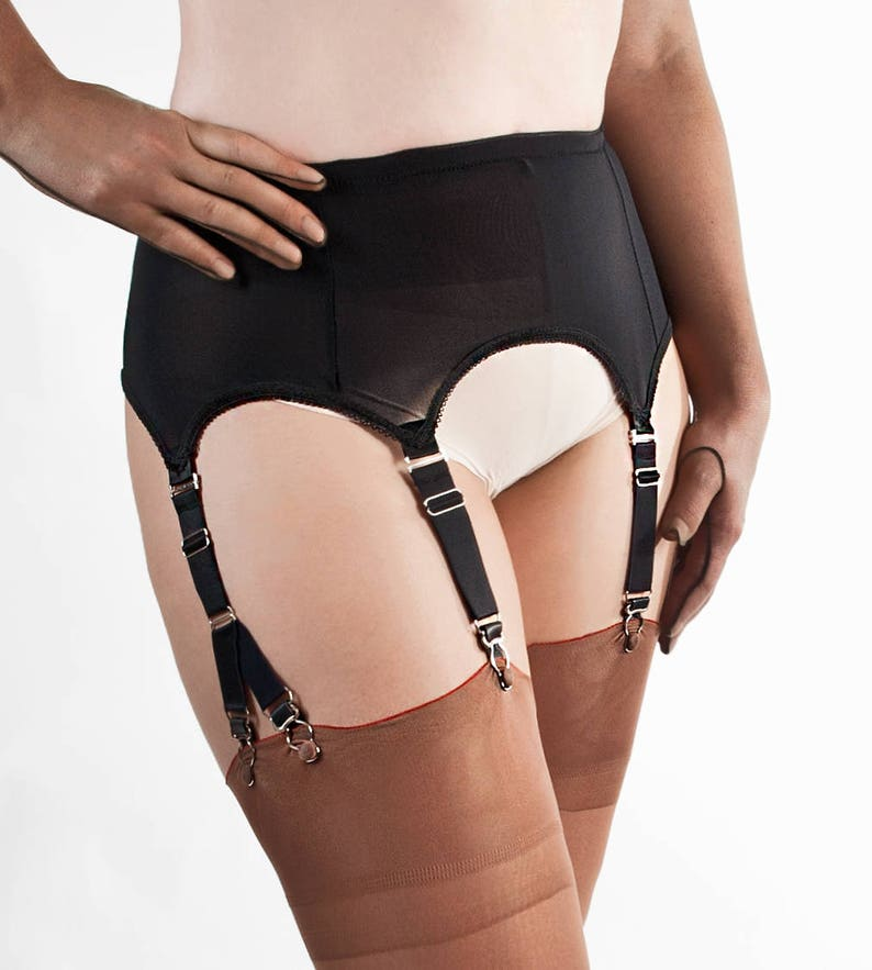 35290a55196 Nylon Power Mesh Garter Belt   Suspender Belt with 6 Straps