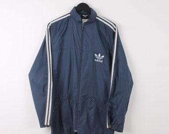 4feddf522 Vintage Adidas XL Blue Lightweight Windbreaker Festival Jacket