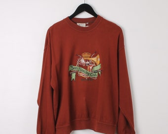 8b8580bf2 Vintage Hugo Boss Large Copper Embroidered Logo Sweatshirt