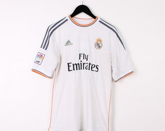 0464b85b7 Vintage Adidas Medium White Real Madrid Football Top