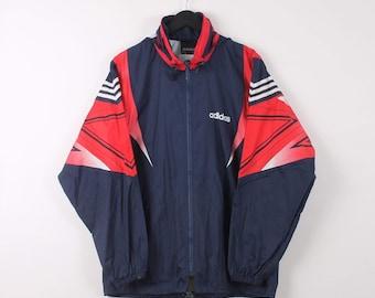 d3a859104 Vintage Adidas Medium Navy Lightweight Windbreaker Festival Jacket