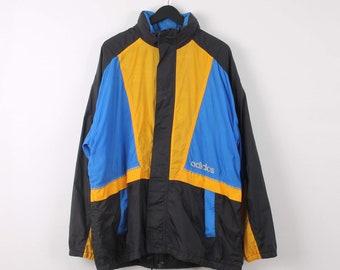 8e587528f Vintage Adidas XL Blue and Black Lightweight Windbreaker Festival Jacket