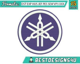 Yamaha embroidery design.  Embroidery design. Machine embroidery design with INSTANT DOWNLOAD. 15 sizes.