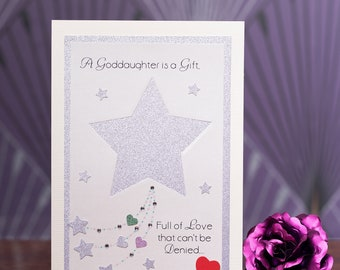 Precious Godchild Godparent or Godparents to be Godmother or Godfather Acceptance Card suitable for any gender child