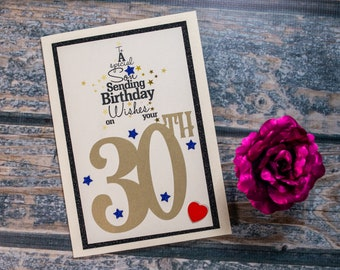 30th Birthday card to a special Son Card heartfelt sentiment 30 son birthday card luxury A5 card - can be signed and sent direct