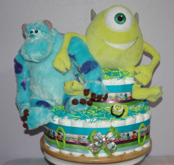 Monsters Inc Diaper Cake Monsters Inc Baby Shower Baby Etsy