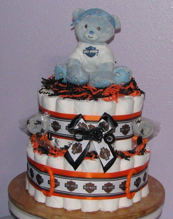 Harley Davidson Diaper Cake Diaper Cake For Boys Harley Etsy
