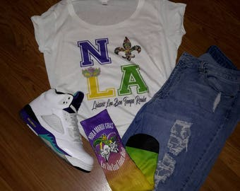 Love NOLA Shirt l Mardi Gras Shirt