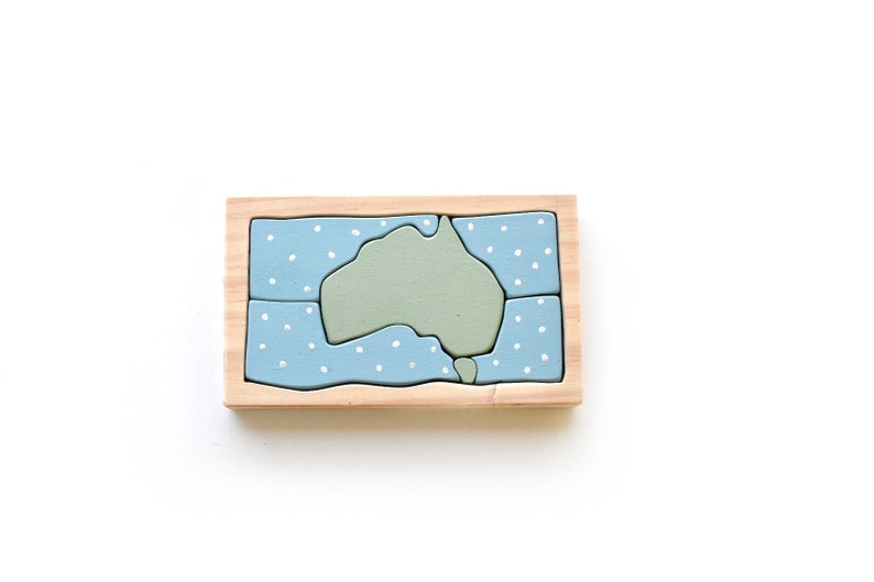 Map Of Australia Jigsaw Puzzle.Australia Map Small Wooden Jigsaw Puzzle