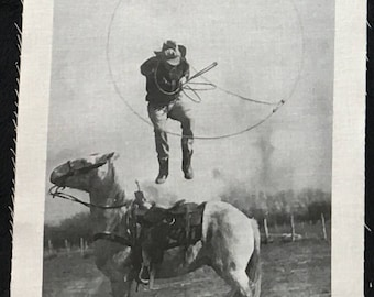 Trick Roping - Cremer Rodeo - Fabric Photo Print