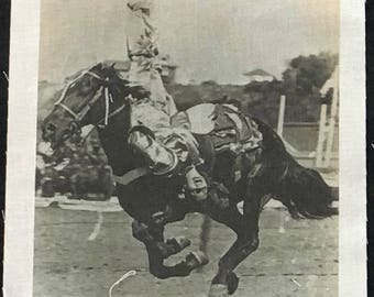 Trick Riding Woman - Cremer Rodeo - Fabric Photo Print
