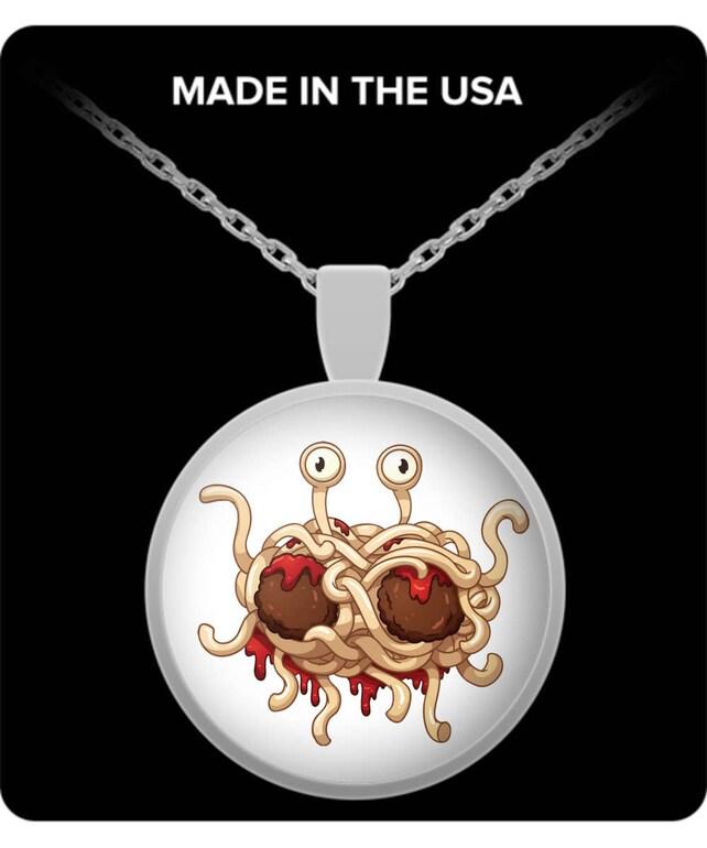 Flying Spaghetti Monster Atheist Atheist Necklace Atheist Etsy