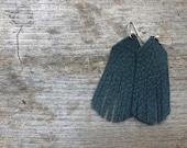 Dark Night Fringe leather earrings