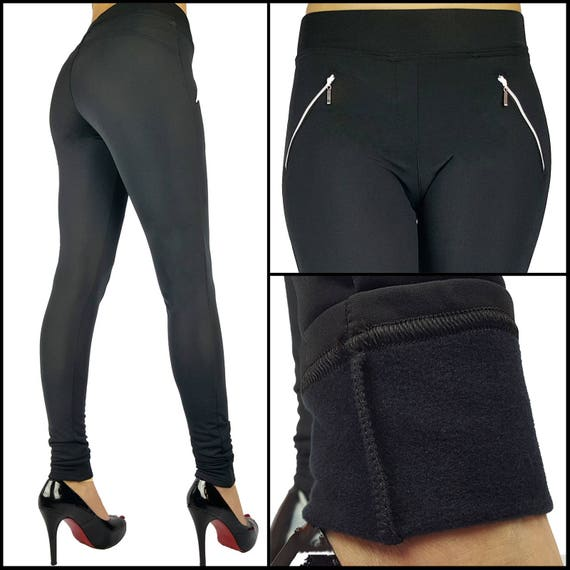special buy outlet biggest discount Winter Thermal Fleece Full Length Leggings With Pockets