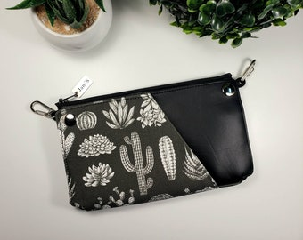 Dark Blue and Gray Floral MINI Dayna Fanny Pack Bum Bag FREE USA Shipping!!