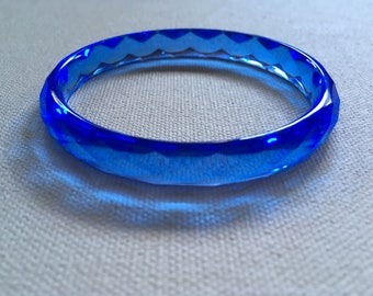 Blue Geometric Resin Bracelet