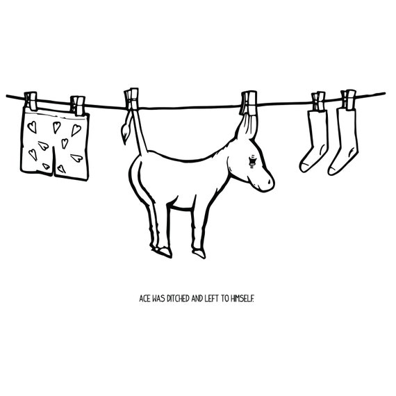 Ace the Donkey Series: Hanging Ass Out to Dry