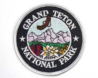 Official Grand Teton National Park Souvenir Patch Wyoming Scrapbooking FREE SHIPPING