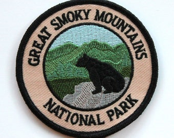 Official Great Smoky Mountains National Park Souvenir Patch Smokey Smokies Scrapbooking FREE SHIPPING