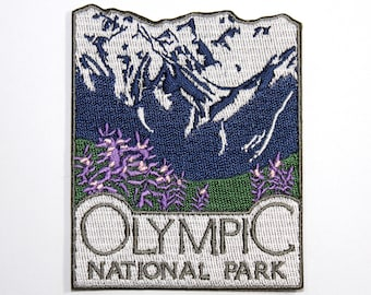Official Olympic National Park Souvenir Patch - Washington Pacific Northwest FREE SHIPPING Scrapbooking