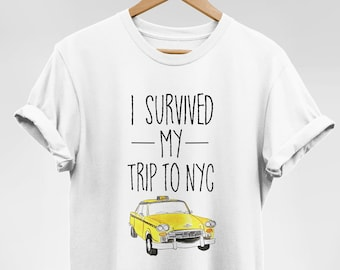 17745ed18 I Survived My Trip To NYC T Shirt New York City Taxi Cab Tee Spider Man  Homecoming Shirt Peter Parker Shirt Yellow Taxi T Shirt