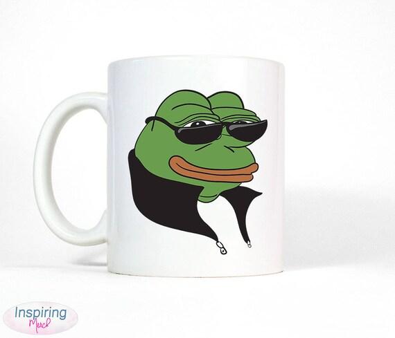 Cool Pepe Frog Meme Mug Rare Pepe Frog Meme Unique Travolta Etsy