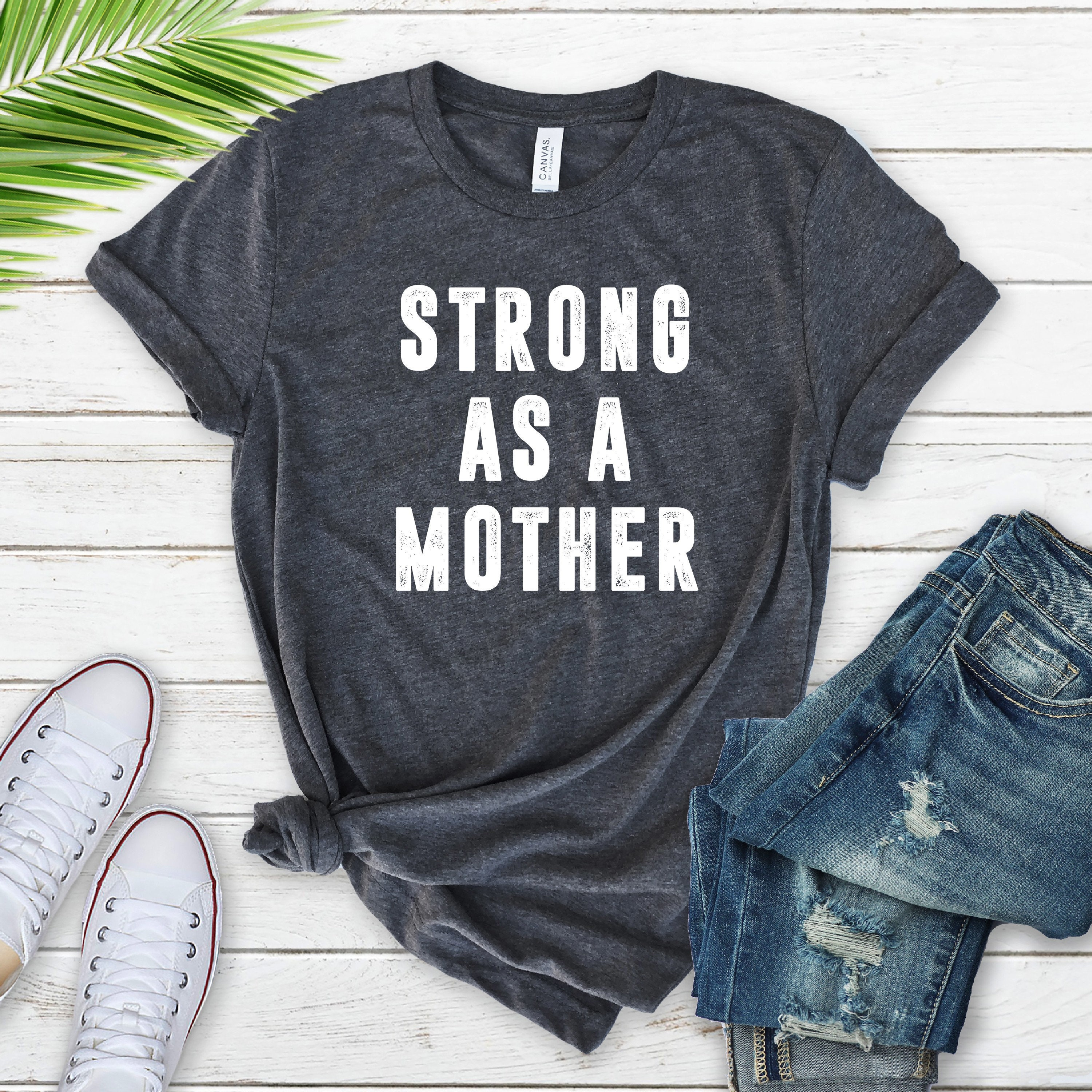 634ff2a4 Strong as a Mother Shirt Mom AF Mama Bear Shirt Mom Life | Etsy