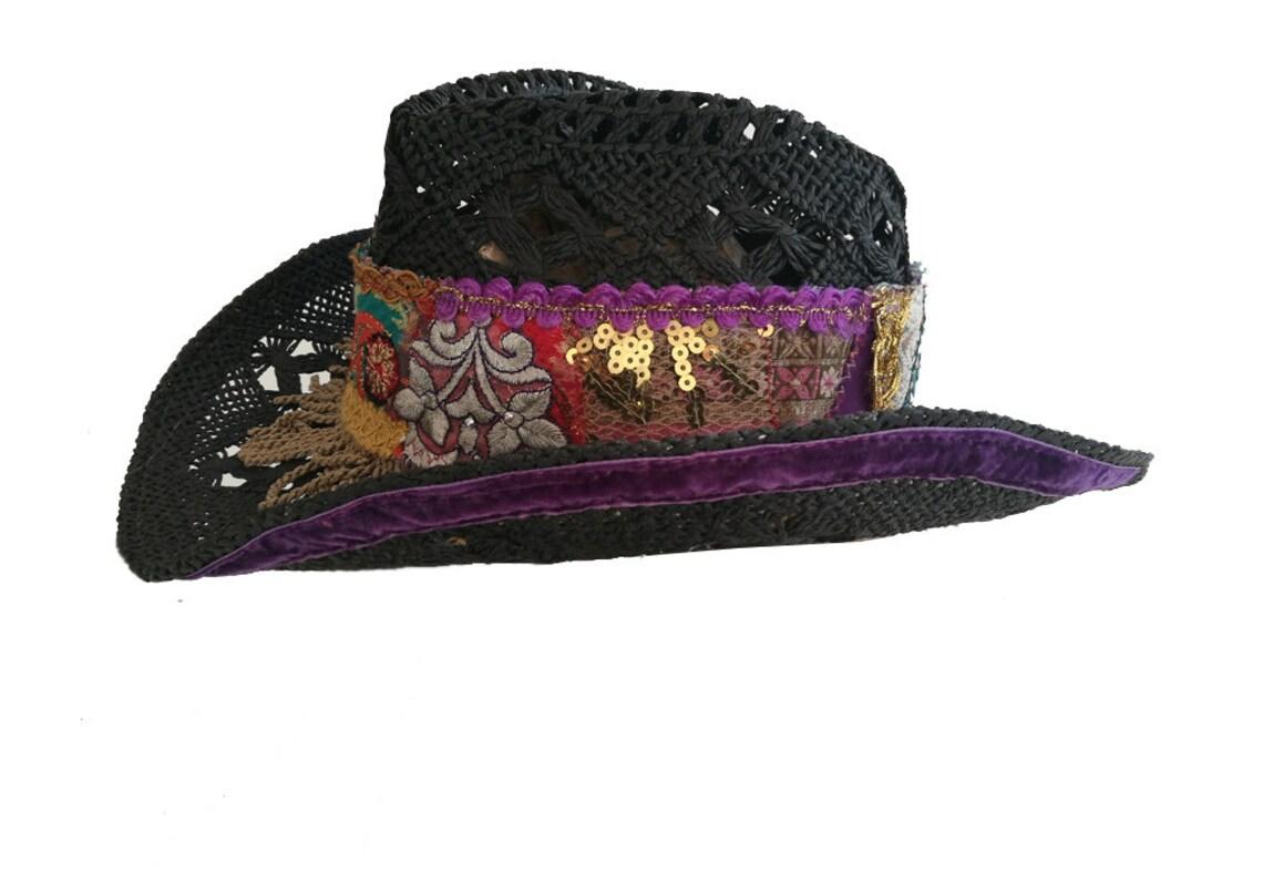Boho hat summer hat restyled hat embellished hat ibiza etsy jpg 1140x798 Boho  hat 70d63a86d258