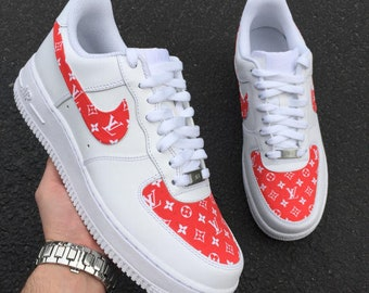 09146462f6a1 LV Supreme custom Air Force 1