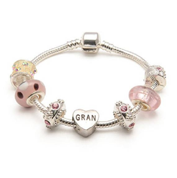 with Gift Box /& Pouch Liberty Charms Childrens Pink Happy 6th Birthday Silver Plated Charm Bracelet
