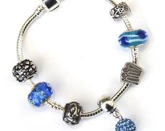 Virgo 'The Virgin' Zodiac Star Sign Silver Plated Charm Bracelet With Gift Box and Velvet Pouch