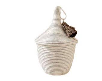 Mini basket Agaseke tassel