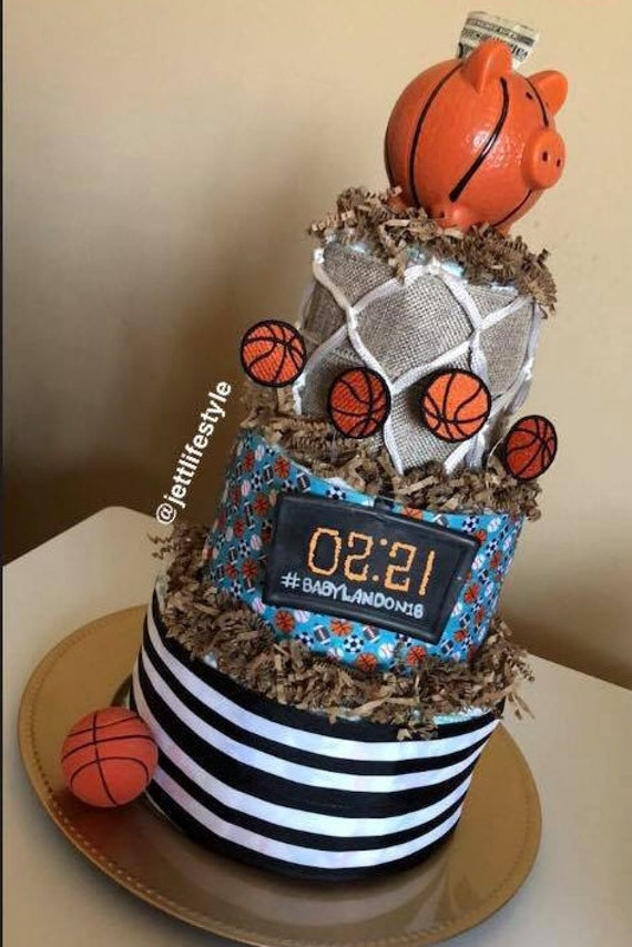 Boys Basketball Custom Diaper Cake Etsy