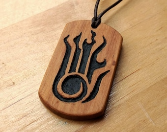 Wooden Destruction Magic Pendant - The Elder Scrolls