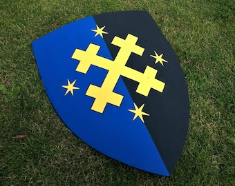 Medieval Heater Shield - Painted or Blank - Re-enactment