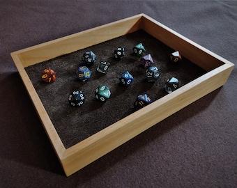 Hardwood Dice Tray - Handmade
