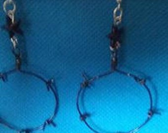 barbed wire earings