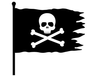pirate flag clip art etsy