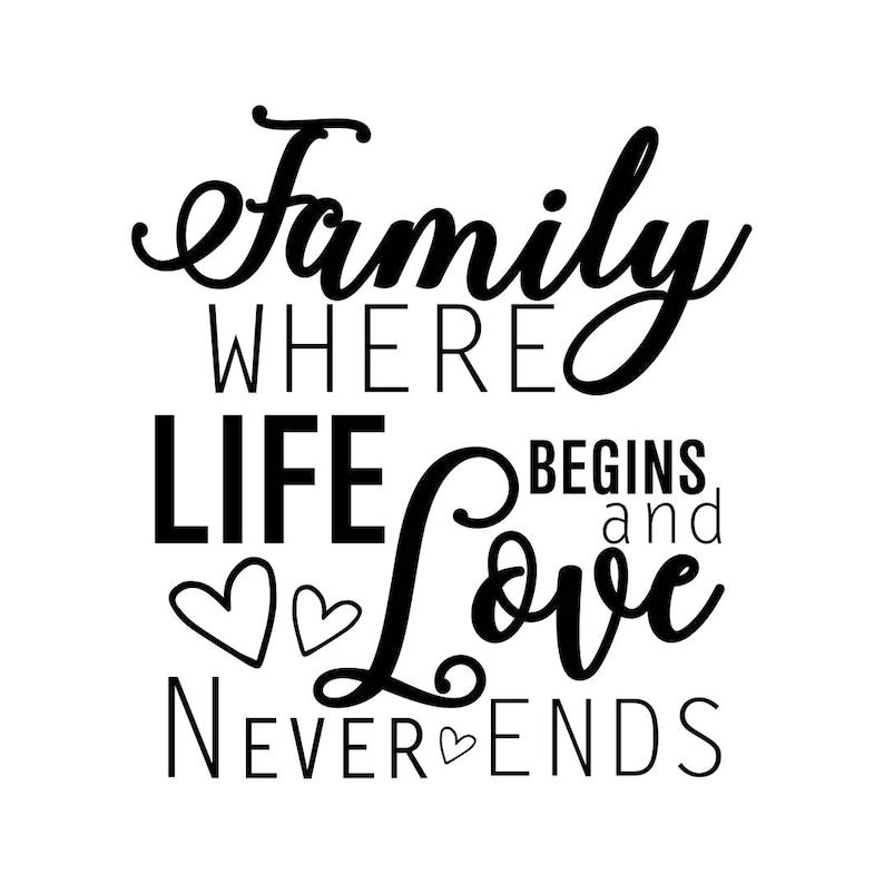 Family Love Life Quotes: Familie Wo Das Leben Beginnt Und Liebe Niemals Endet